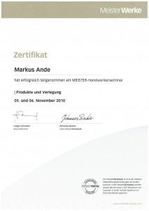 Meister-Handwerkerseminar 2010